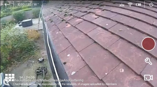 Gutter cleanig camera
